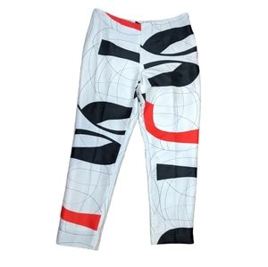Raoul abstract mod white black orange red pants